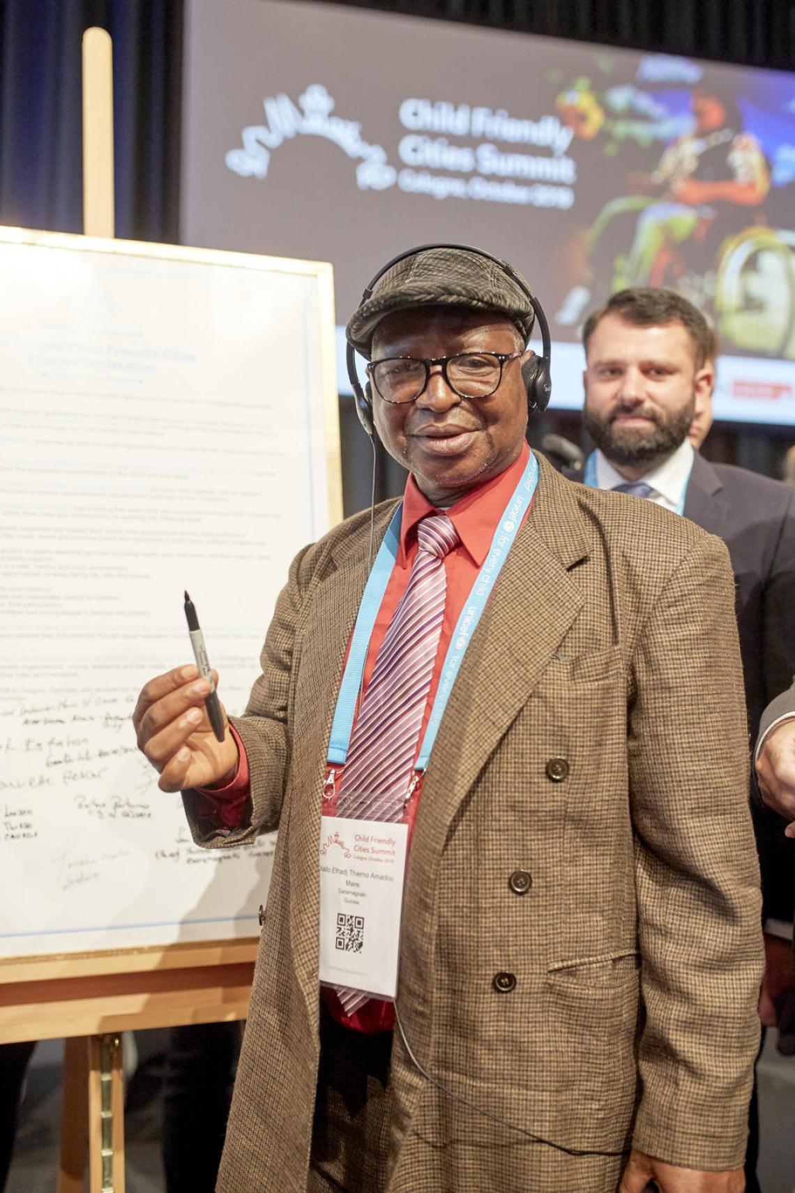 El-hadji Thierno Amadou DIALLO, maire de la commune de Daramagnaki