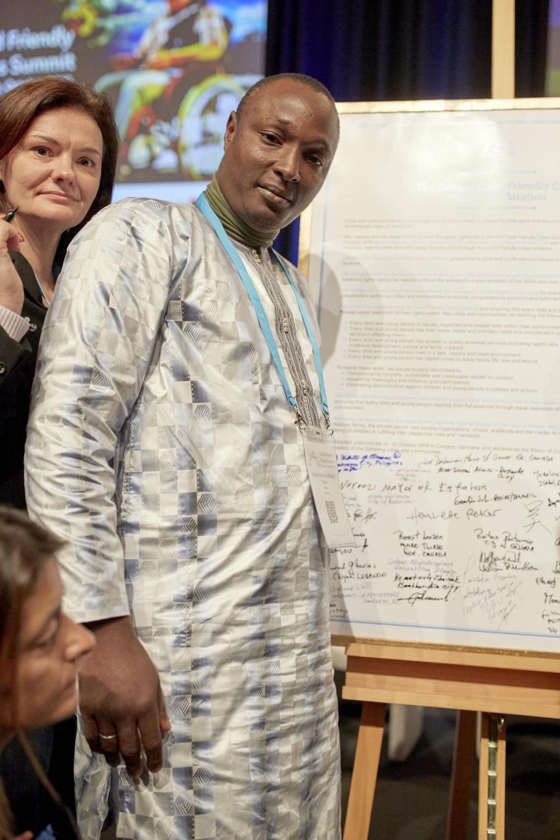 Ibrahima Kollet Baldé, maire de la commune de Kollet