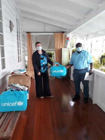 UNICEF hands over supplies to MoPH Guyana
