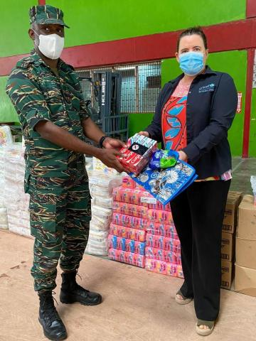 UNICEF and USAID handover supplies to CDC