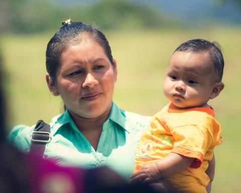 Mother, baby, Rupununi, Guyana, Study on Indigenous Women and Children