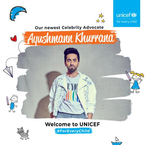 UNICEF India and Indian youth icon Ayushmann Khurrana join hands to advocate for  Child Rights