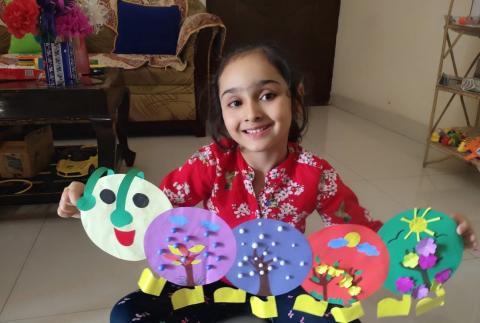 Staying home is fun and full of learning says Aauhi Singh.