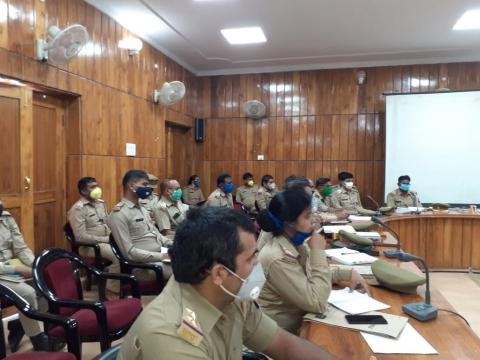 Covid19 Response planning by the police in Uttar Pradesh.