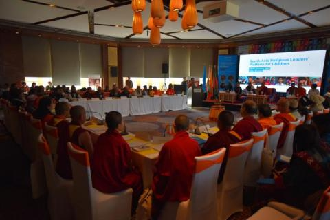 Religious leaders In South Asia commit to work with UNICEF to protect and promote children's rights.