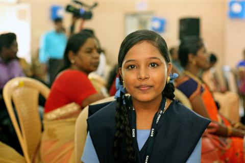 Portait of Malini a Champions of End Child Marriage program.