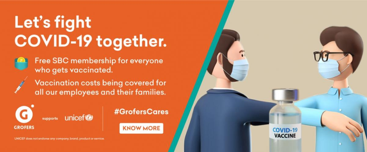 Grofers and UNICEF awareness poster