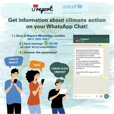 U-Report chatbot climate action