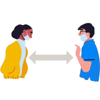 Physical distance icon