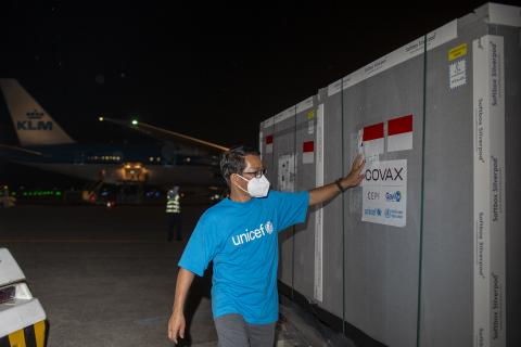 COVAX vaccines arrive in Indonesia