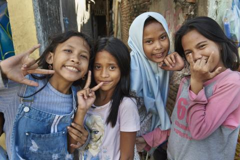 Girls at home in Sulawesi