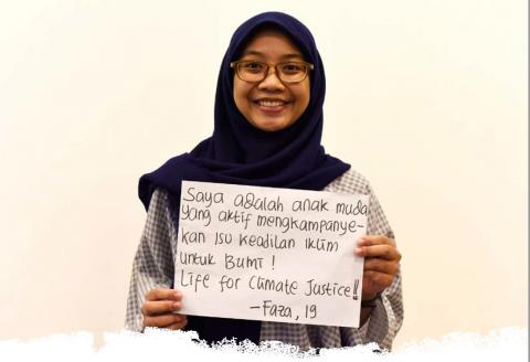 Fatimah Hurrin: I'm actively campaigning on climate justice issues.