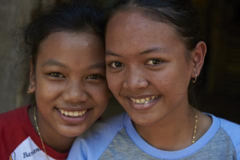 Two adolescent girls