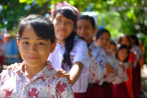 School girls in Mamuju, West Sulawesi