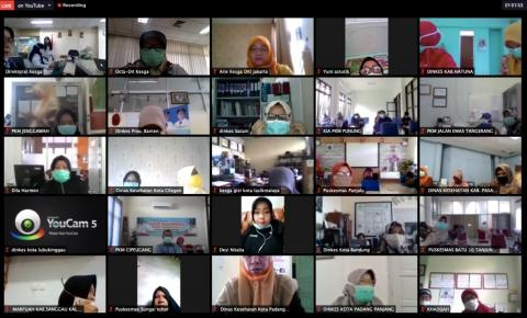 Online workshop with health offices across Indonesia