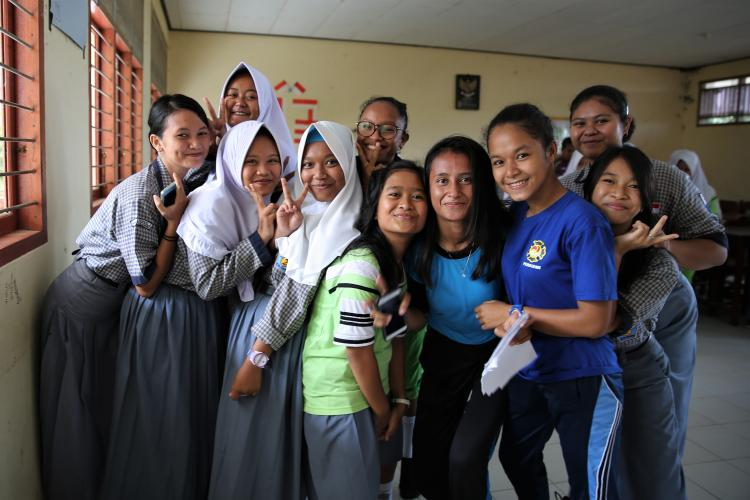 Adolescent girls at SMA 2 Kabupaten Sorong School