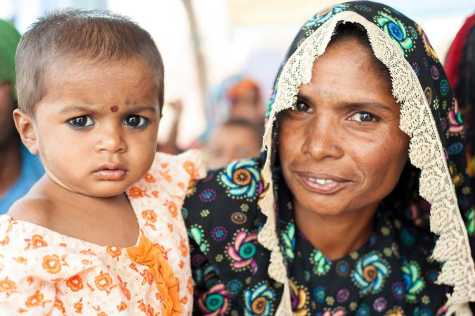Malnourished children from Lakha