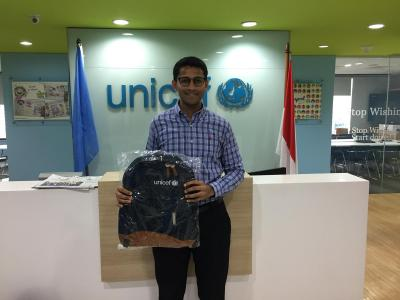 Hari at UNICEF indonesia office