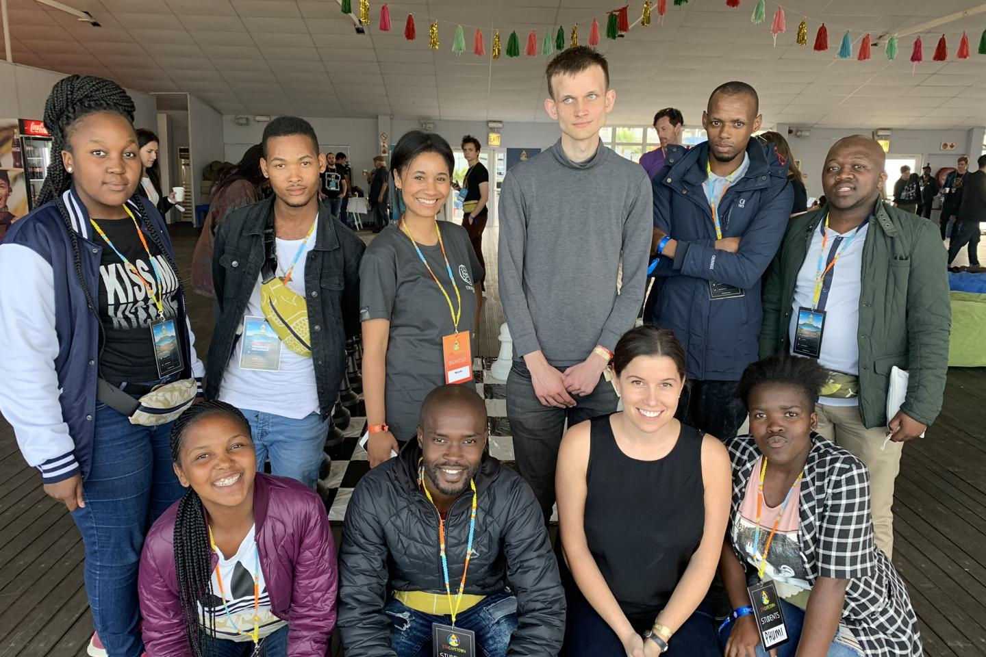 SURGE Cape Town students with Vitalik Buterin, the founder of Ethereum