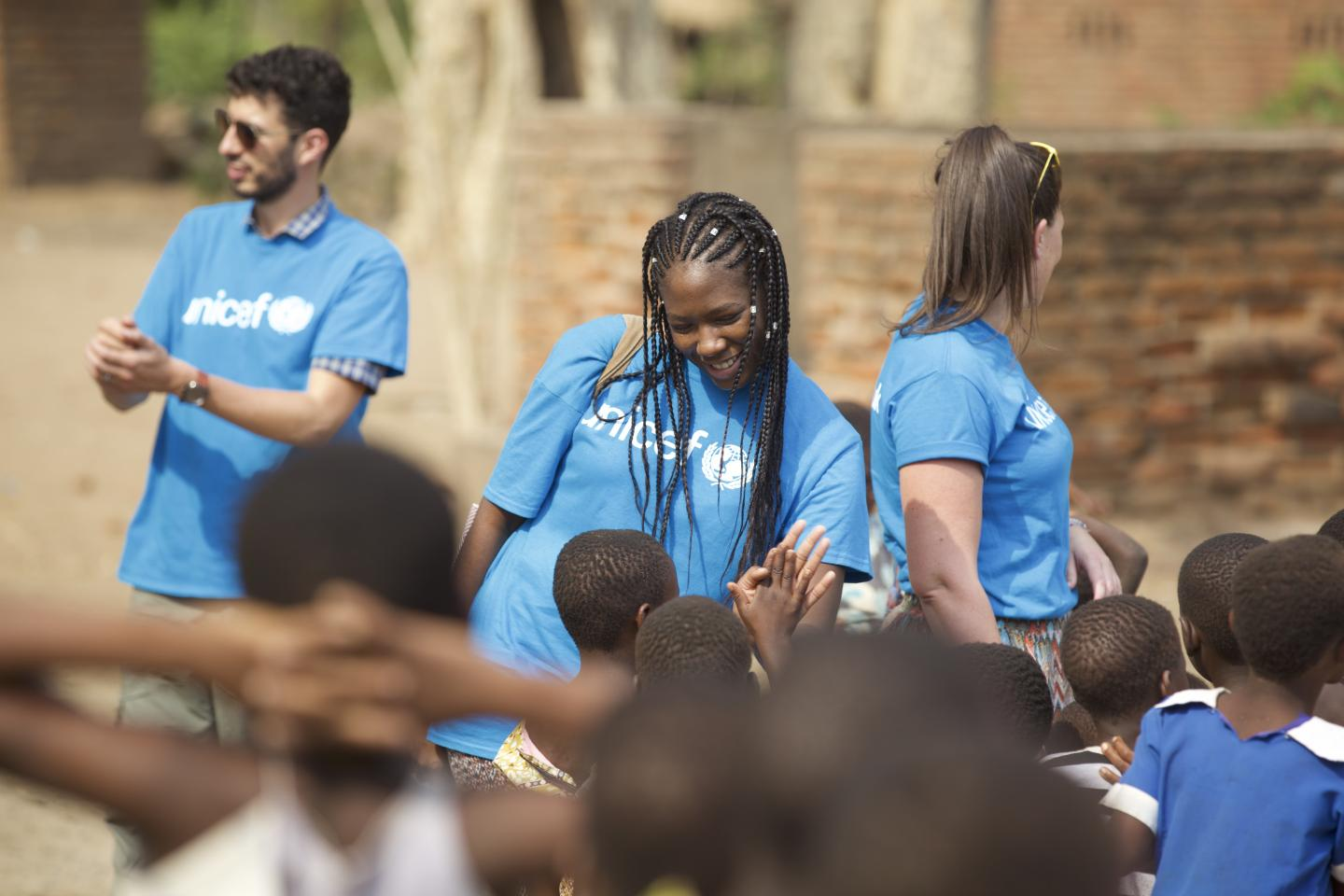 Arm's Kate Kallot shares light moments with children in Chikwawa, Malawi