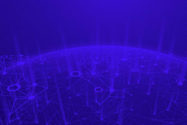 tech image of nodes and the world