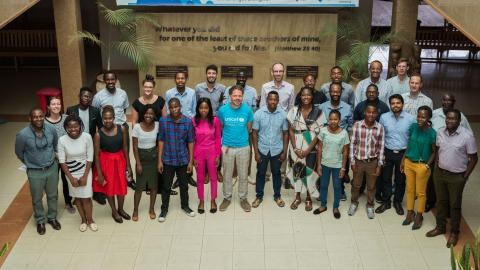 Arm and UNICEF with young innovators in Daeyang University, Lilongwe, Malawi