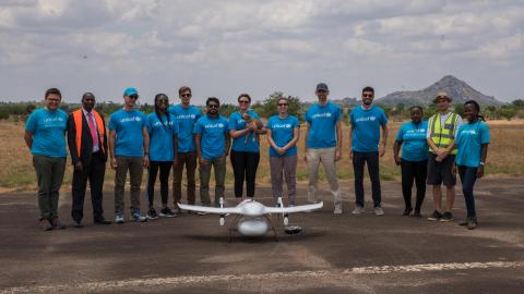 Arm visiting the Humanitarian Drone Corridor in Malawi with UNICEF