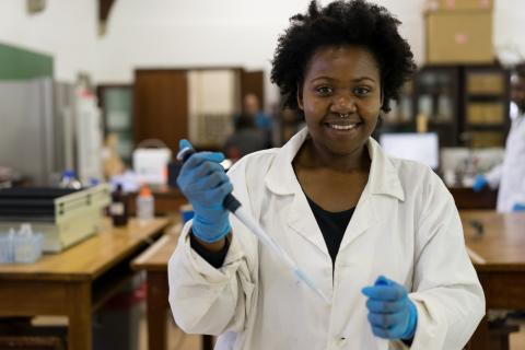 Khanysile Buthelezi, one of the female researchers on the biotechnology innovation team