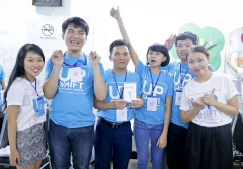 UPSHIFT Vietnam participants smiling at the camera