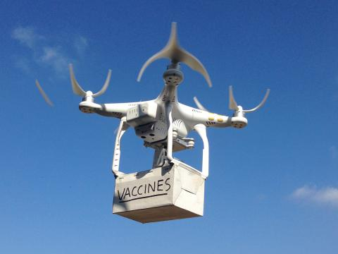 Drone Carrying box with vaccines