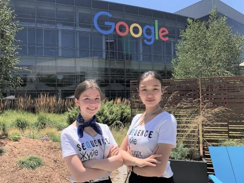Young innovators from Kazakhstan, Dilnaz Kamalova and Dana Yerlanova