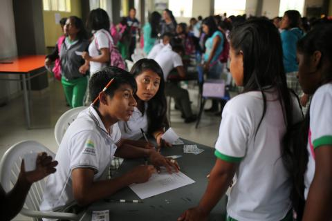 students in a colombian school