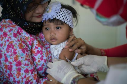 Indonesia is carrying out its largest ever vaccination campaign.