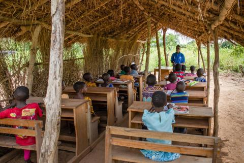 A Complementary Basic Education class in Afuaminyi, Krachi-East District in the Volta Region.