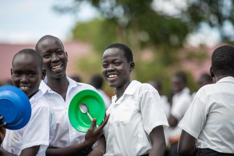 Students of Maaji secondary School — the only secondary school in Maaji II settlement camp, Adjumani.