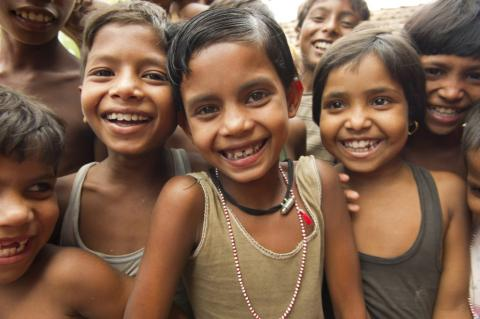 children smiling
