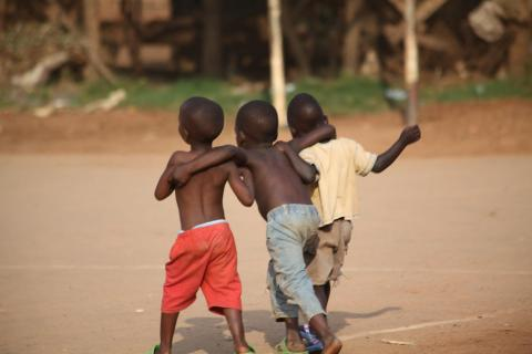 Young children playing at the Treasure Life Centre (TLC)