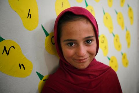 Aneesa, 12 years old, studies in SCD child protection center for adolescent girls in Quetta, Baluchistan province, Pakistan.