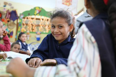 Donia, 10 years old, is a student at Sheikh Ali community school in Beni Suef, Upper Egypt.