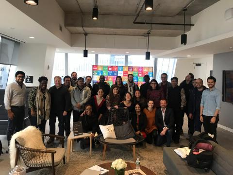 UNICEF Innovation Fund team, Innovation Fund portfolio companies and mentors during the Cohort workshop in April 2019 held at SAP-Next Gen Labs