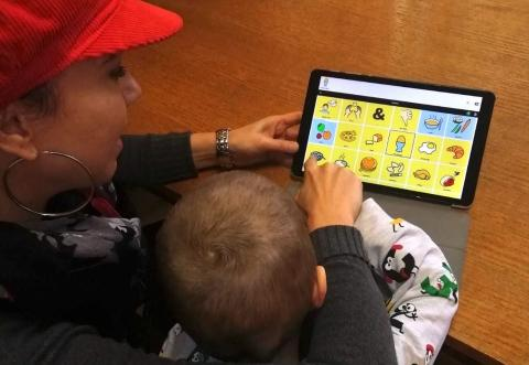 "An open source mobile app, ""Cboard,"" developed by UNICEF Innovation Fund Graduate ""Cireha,"" is being introduced by UNICEF and partners to support young children with complex communication needs who otherwise may be left out of early childhood education services."