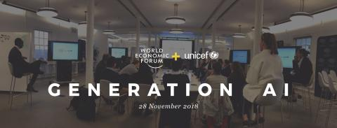 Generation AI with WEF AND UNICEF LOGO