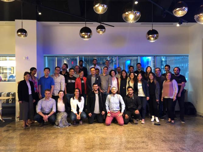 Group photo taken at the data science/AI and XR cohort meeting in June 2018.