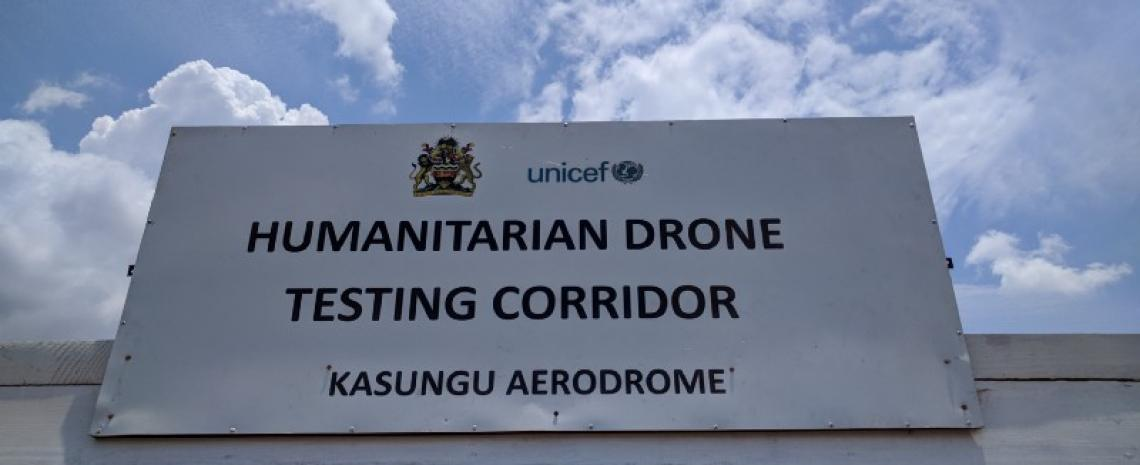 Welcome sign at Drone Testing Corridor