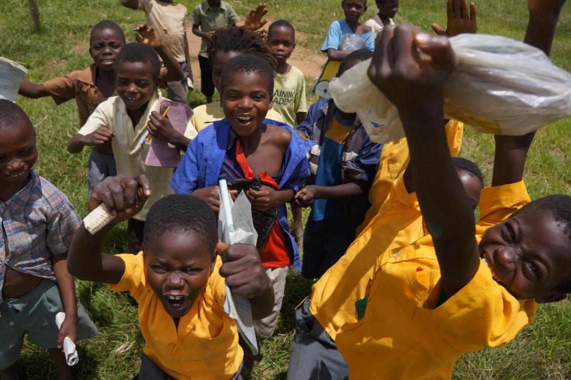 Children in Malawi at play