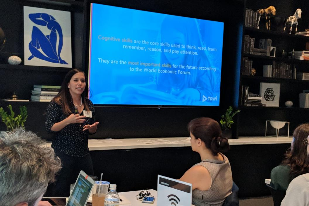 Pixframe presenting at UNICEF Office of Innovation's DS/AI and XR cohort meeting in June 2018.