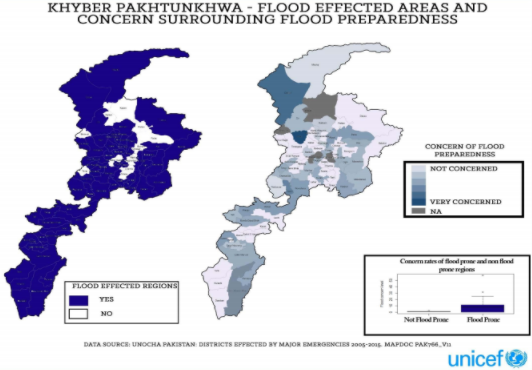 Flood affected regions and concern surrounding flood preparedness.