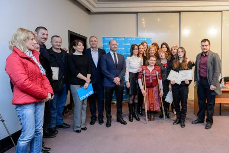 Innovative work for children with disabilities – first audio textbook was produced in Montenegro. UNICEF with partners and volunteers.
