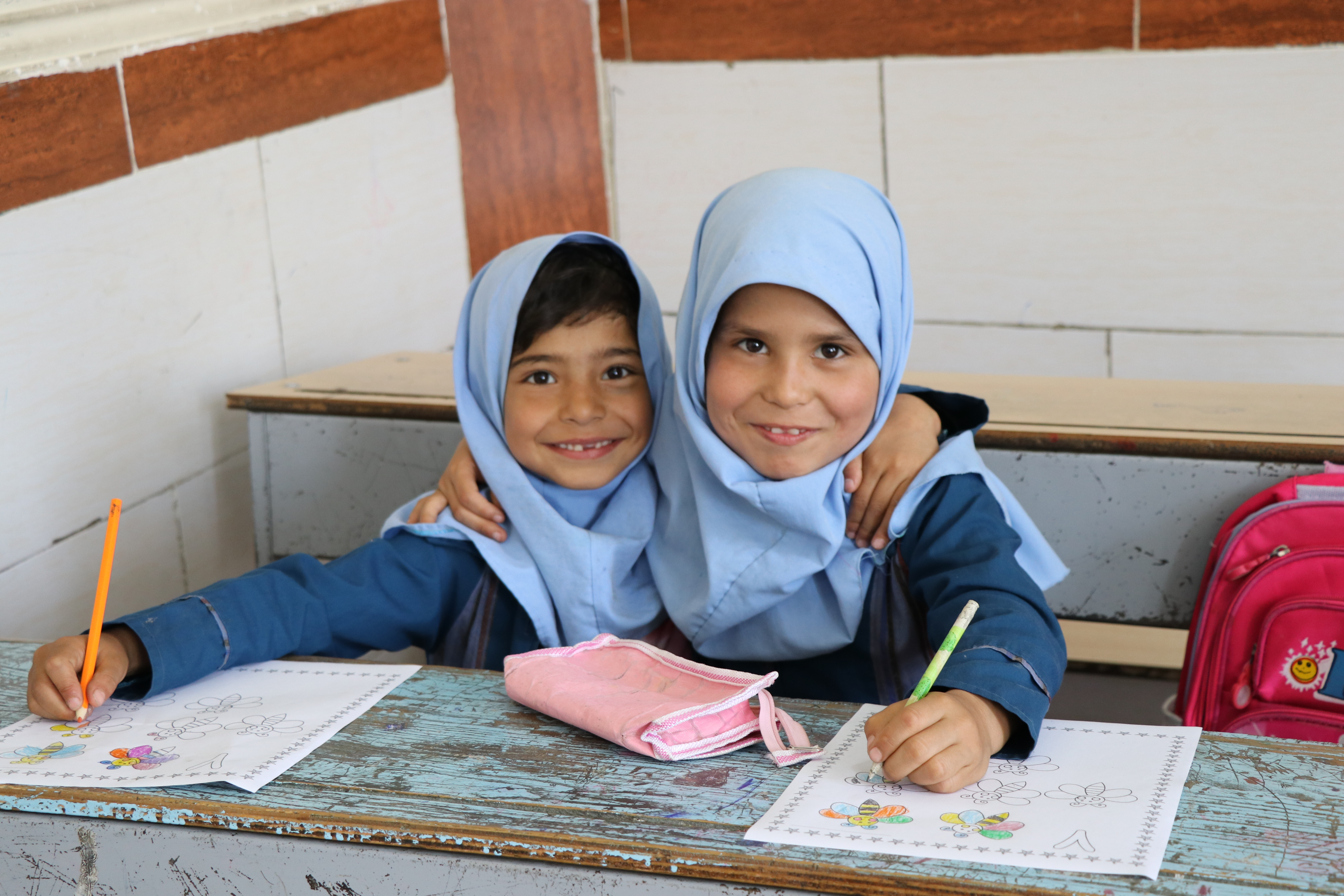 two girl students in Iran