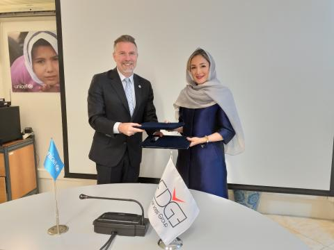 EDGE and UNICEF signing ceremony